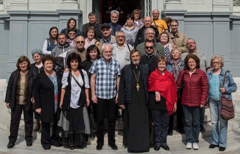 Църковният хор след концерта, пред Желязната църква в Истанбул, 2018 г. Снимки - личен архив на Красен Иванов